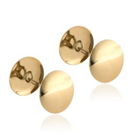 14kt yellow gold round cufflinks