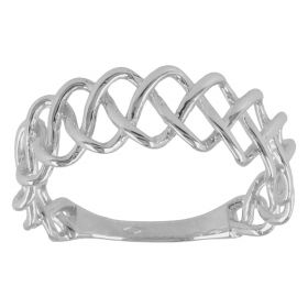 """Braid"" ring in 14kt gold"