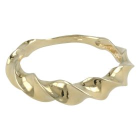 """Twisted"" ring in 14kt gold"