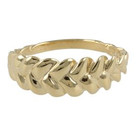 Braid ring in 14kt gold | Gioiello Italiano