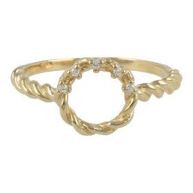 Anello ghirlanda in oro con zirconi cubici | Gioiello Italiano