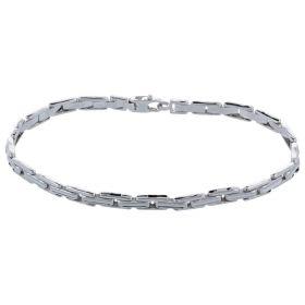 14kt white gold band bracelet