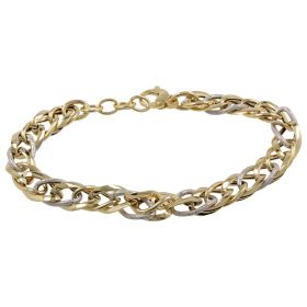 14kt yellow and white gold bracelet