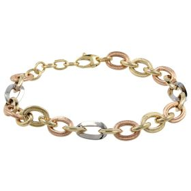 14kt three colors gold bracelet | Gioiello Italiano