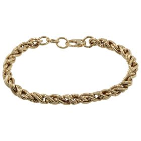 "14kt yellow gold ""Rope"" bracelet"