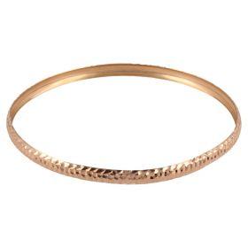 14kt rose gold bangle bracelet | Gioiello Italiano