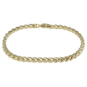 "Men's bracelet in yellow gold ""Snake"""