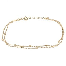 Double thread yellow gold bracelet