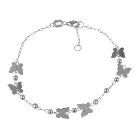 Bracciale con farfalle in oro bianco | Gioiello Italiano