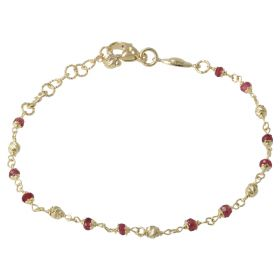 Yellow gold bracelet with sapphire root