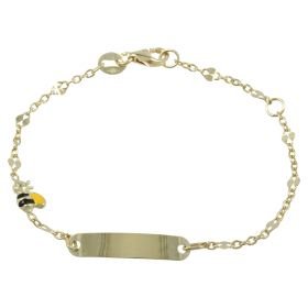 Yellow gold bee bracelet