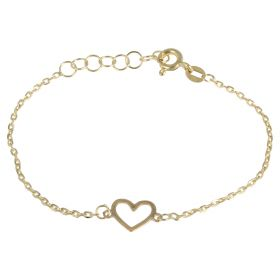 Girl's bracelet in yellow gold with heart