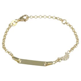 Yellow gold bracelet with crescent moon