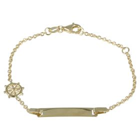 "Yellow gold ""Rudder"" bracelet"