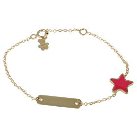 "Yellow gold ""Red Star"" bracelet"