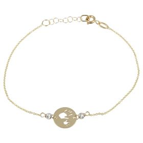 "Bracelet ""Hands"" in yellow and white gold 14kt 