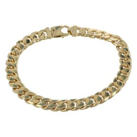 Men's curb bracelet in solid 14kt gold