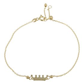 "Adjustable 14kt yellow gold ""Crown"" bracelet 