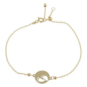 "Adjustable ""Feet"" bracelet in 14kt yellow gold 