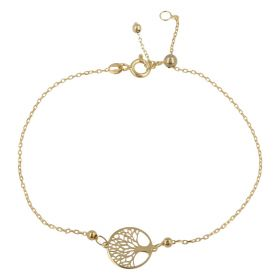 "Yellow gold ""Tree of Life"" adjustable bracelet 