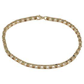 Men's medium bracelet in yellow gold box chain | Gioiello Italiano