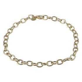 Bracciale ad anelli vuoti in oro giallo | Gioiello Italiano