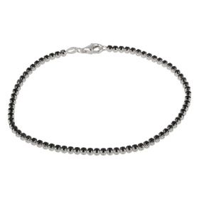 Tennis bracelet in 14kt white gold and black zircons | Gioiello Italiano