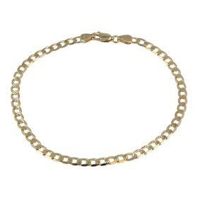 Bracciale da uomo grumetta diamantata in oro giallo 14kt | Gioiello Italiano