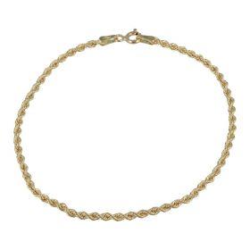 Bracciale corda sottile in oro giallo 14kt | Gioiello Italiano