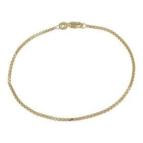 Square section chain bracelet in yellow gold | Gioiello Italiano