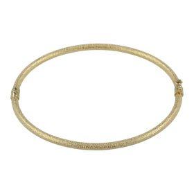 Bracciale rigido satinato in oro giallo 14kt   Gioiello Italiano