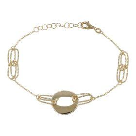 Bracciale in oro giallo e bianco a taglio diamantato   Gioiello Italiano