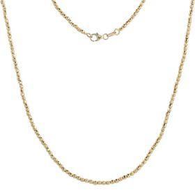 14kt yellow gold beads chain | Gioiello Italiano
