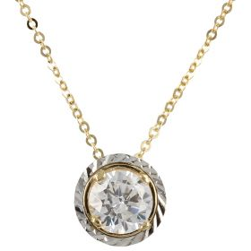 14kt gold point light necklace
