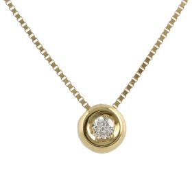14kt yellow gold point light necklace with cubic zirconia