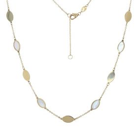 14kt yellow gold necklace with mother-of-pearl