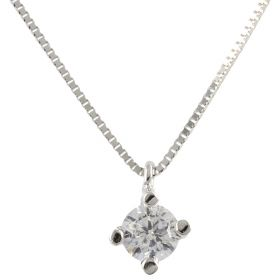 Point light necklace in 14kt white gold with zircon