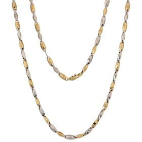 14kt yellow and white gold prisms chain