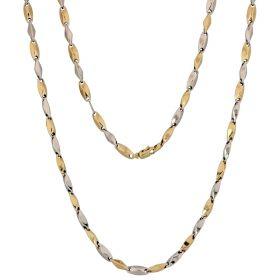 14kt yellow and white gold prisms chain | Gioiello Italiano