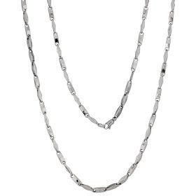 14kt white gold men chain | Gioiello Italiano