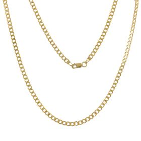 Curb chain in 14kt yellow gold