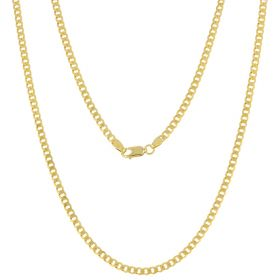 14kt yellow gold flat curb chain