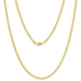 14kt yellow gold flat curb chain | Gioiello Italiano