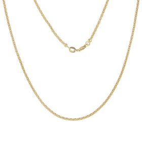 Yellow gold korean rounded chain