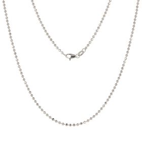14kt white gold balls chain | Gioiello Italiano