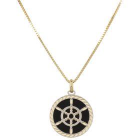 """""""Rudder"""" necklace in 14kt gold"""
