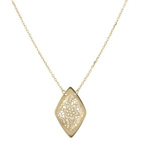 """Rhombus yellow gold """"Pizzo d'Oro"""" necklace"""