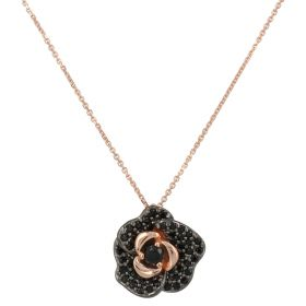 """""""Little Rose"""" necklace in gold with zircons   Gioiello Italiano"""