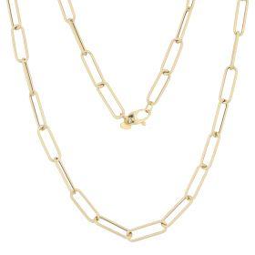 Medium elongated chain in 14kt yellow gold