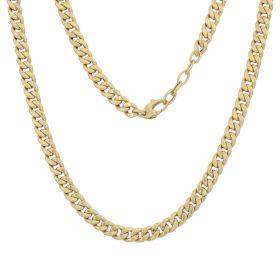 Collana grumetta vuota in oro giallo 14kt
